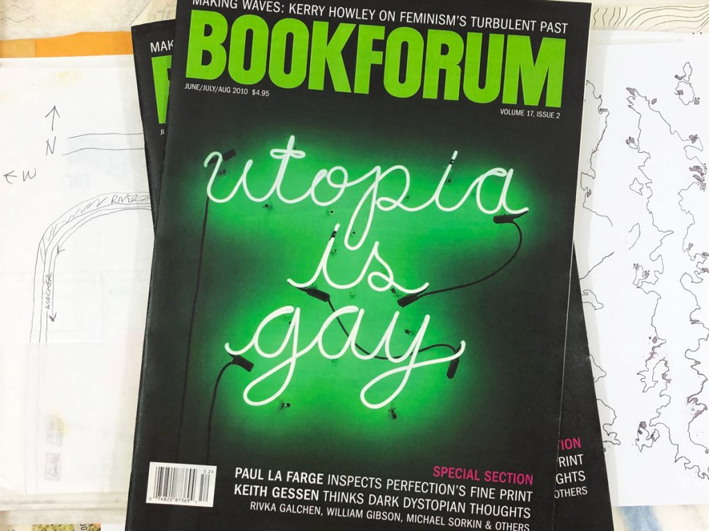 photograph of a bookforum cover dated summer 2010