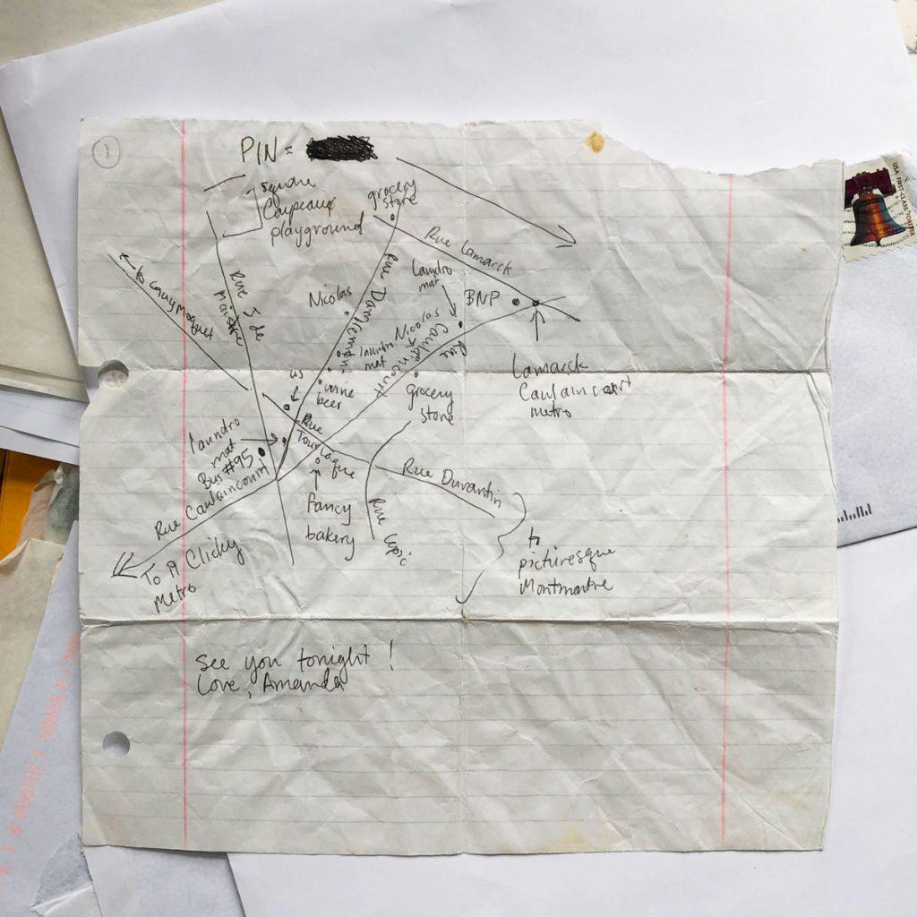 hand drawn map of paris