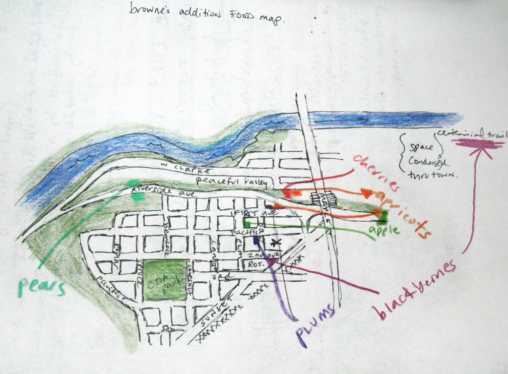 hand drawn map of spokane washington
